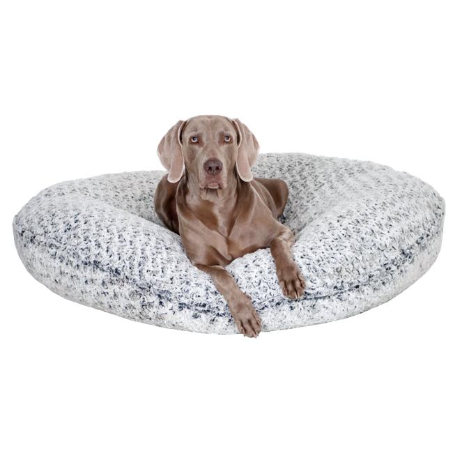 Rundes Hundebett kuschelig weich